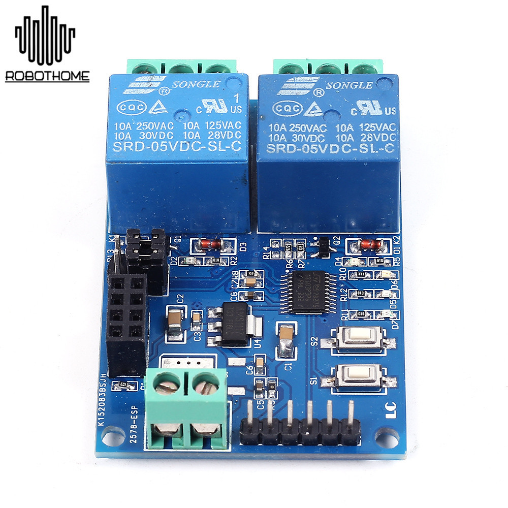 2pcs Wifi Relay Module Esp8266 Iot App Controller 2 Channel For Use A Or Smart Switch With The 45 Watt Higher Halogen Lights More Detailsplease Click Here