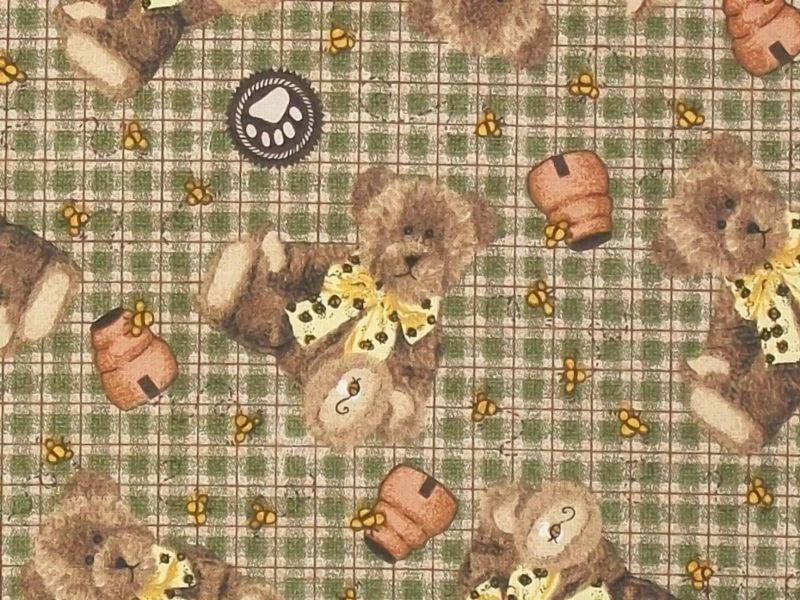 10 Boyds Bears Fq Fat Quarters Cotton Quilt Fabric Nr