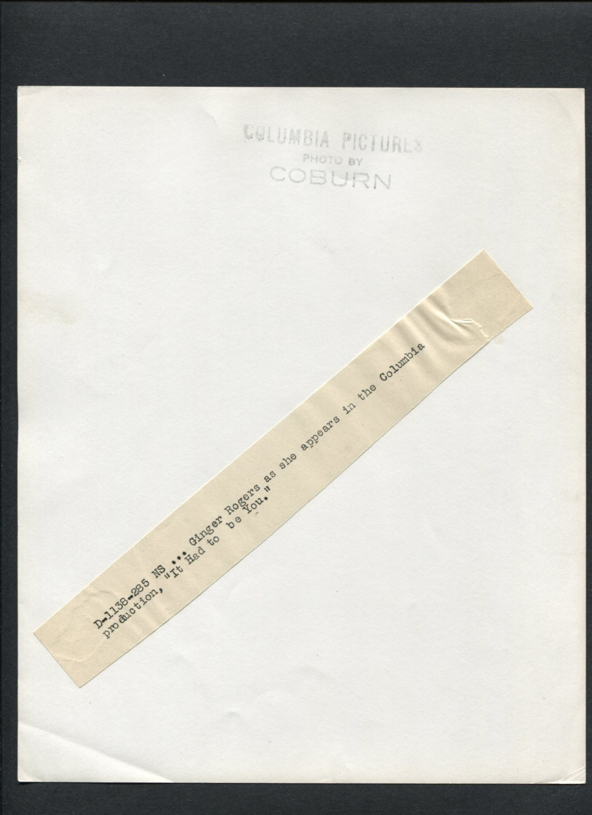 8x10 Print Ginger Rogers 1947 by Robert Coburn #GR663