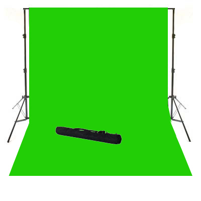 Details about 10x12 Muslin Chromakey Green Screen & Support Stand KIT