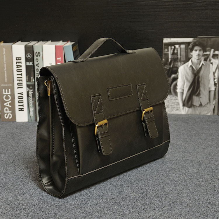 ETERLY Business Briefcase Mens Bag Shoulder Messenger Bag Tote Briefcase