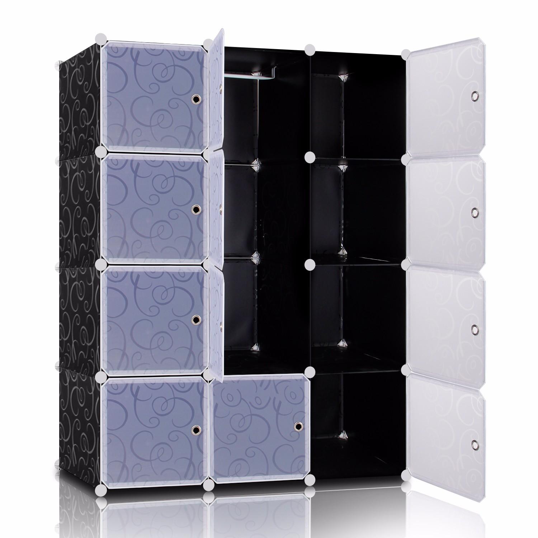 bd65b3db455a5 Lifewit Armadio Modulare DIY in plastica con Porte 12-cube Borse ...