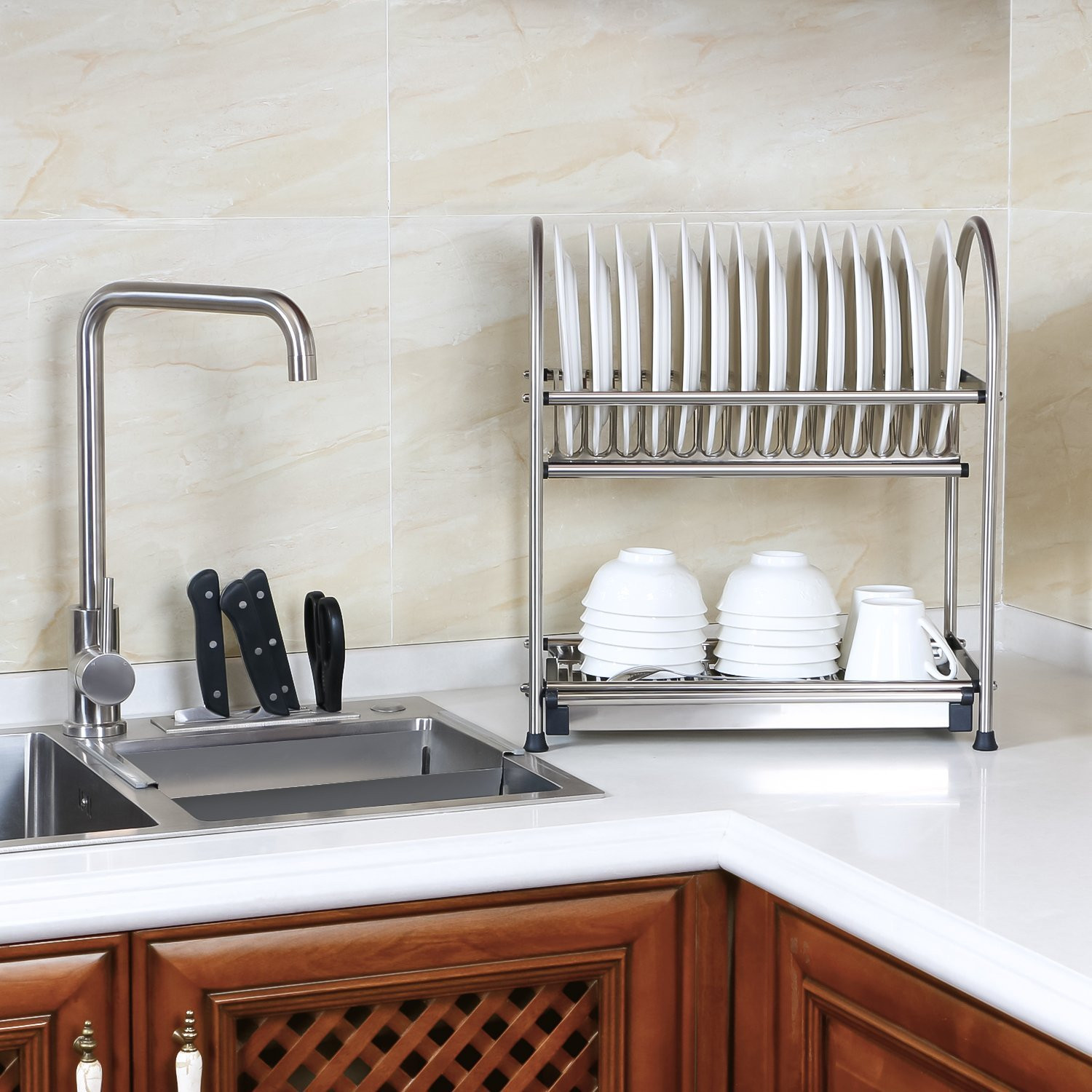 Lifewit 2 Tier Dish Rack× 1. Working Gloves × 1. Introduction × 1