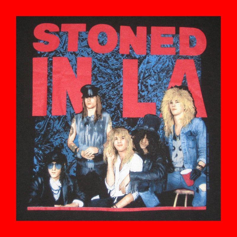 vtg guns n roses 39 89 stoned in la tour t shirt concert ebay. Black Bedroom Furniture Sets. Home Design Ideas