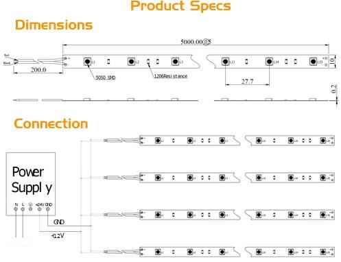 16 4ft rgb multicolor flexible led strip lights tape light 5050 led rh ebay com Waterproof LED Strips LED Strips Product