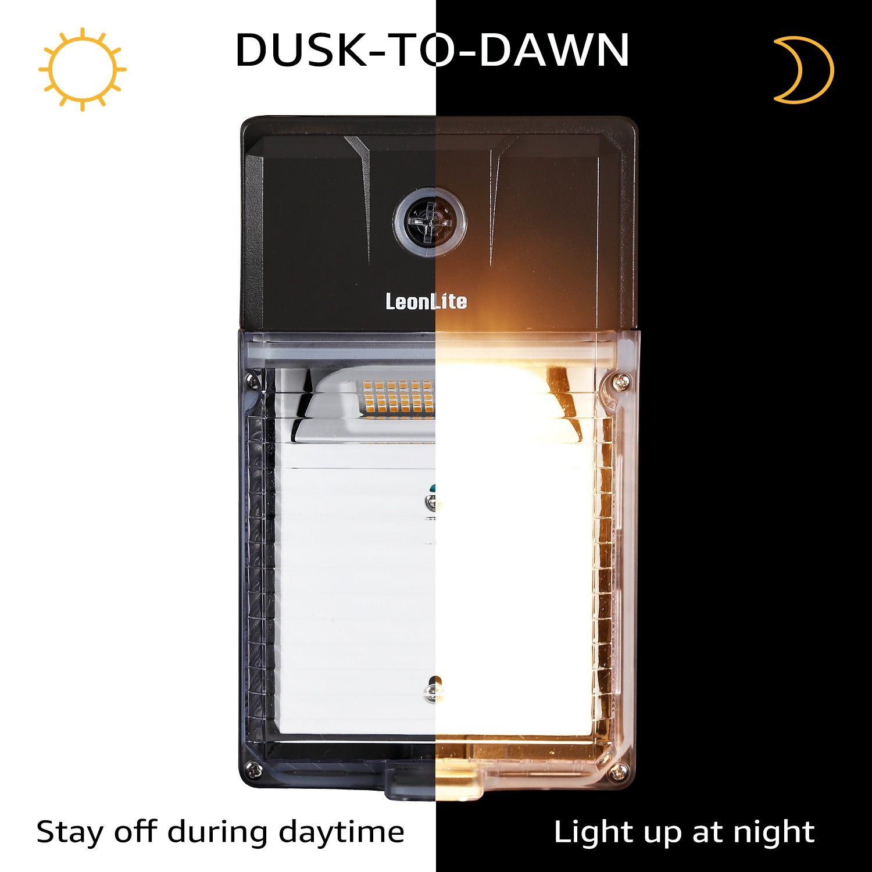 LEONLITE 2Pcs 30W Outdoor LED Dusk to Dawn Mini Wall Pack 5000K UL/&DLC Premium