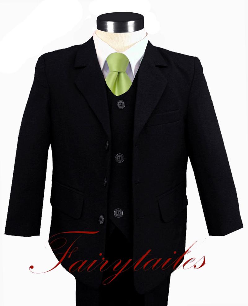 black suit dark green tie -#main