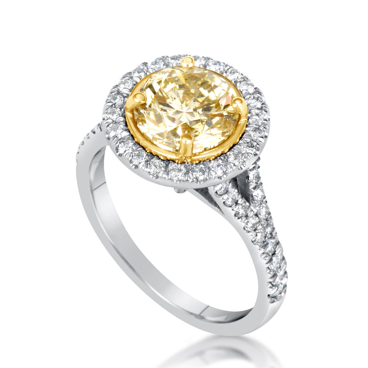 3 Ct Round Cut Vs Diamond Solitaire Engagement Ring 18k White Gold