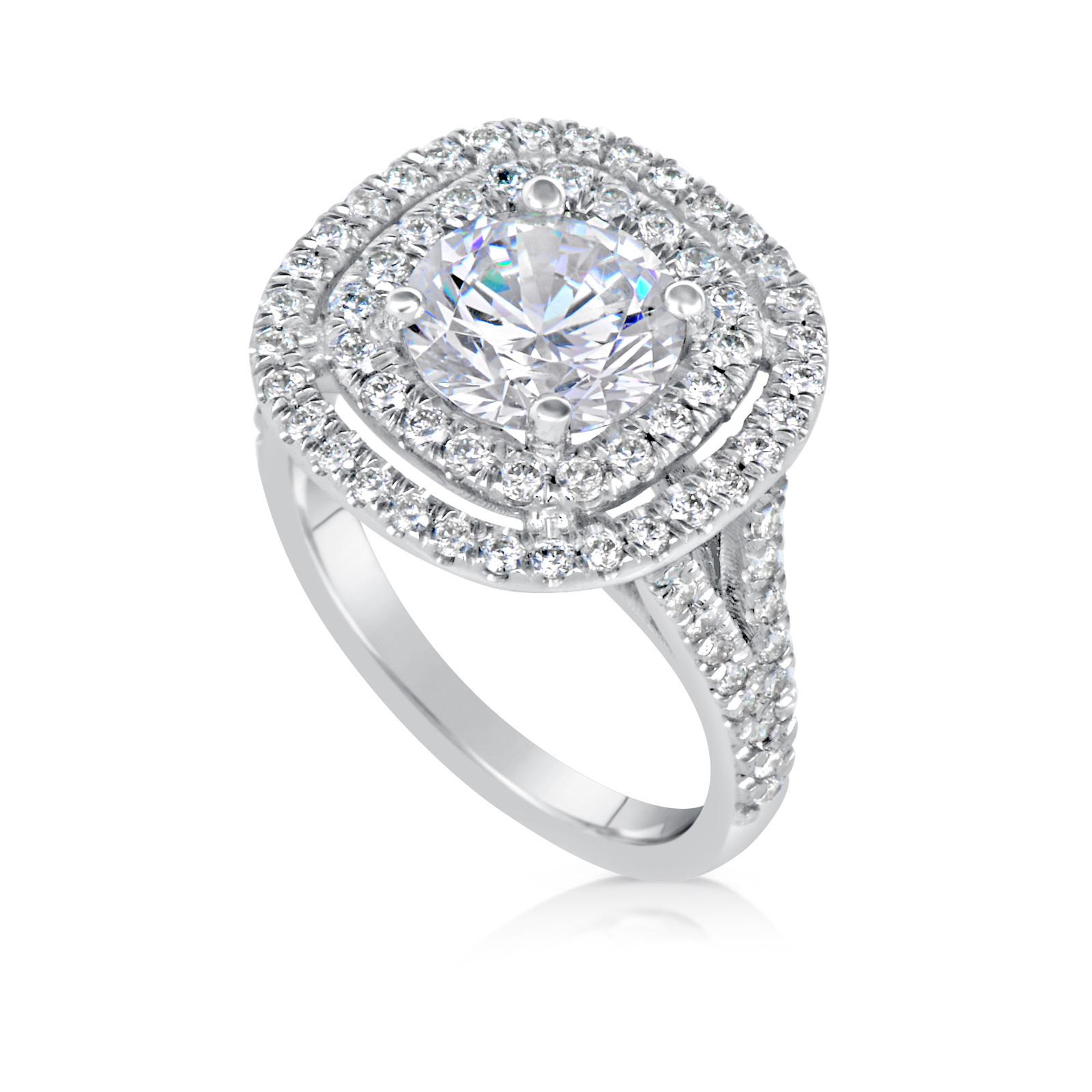 400 Ct Round Cut Dsi1 Diamond Solitaire Engagement Ring 14k White