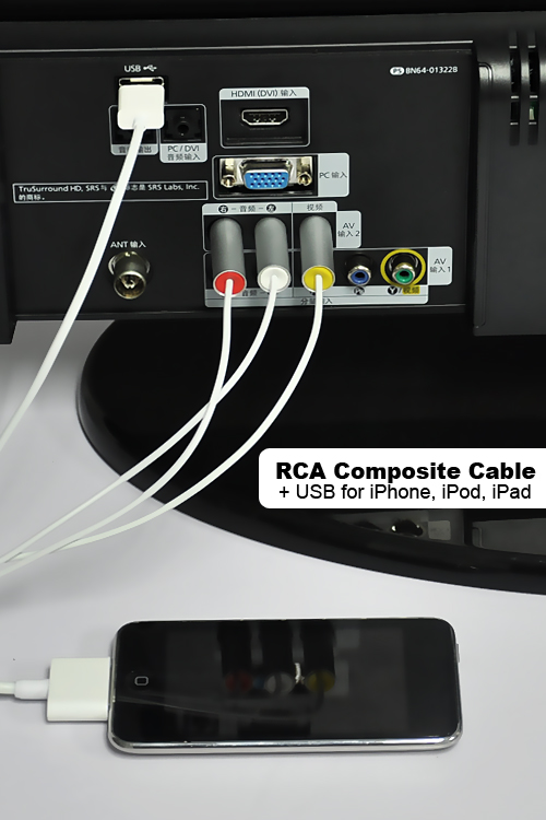 iphone cord to tv rca composite cable cord usb for iphone ipod 15233