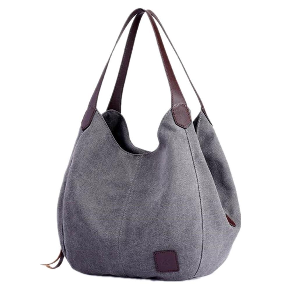 Canvas Handtasche Damen Schultertasche Multi-Beutel Tasche Henkeltaschen