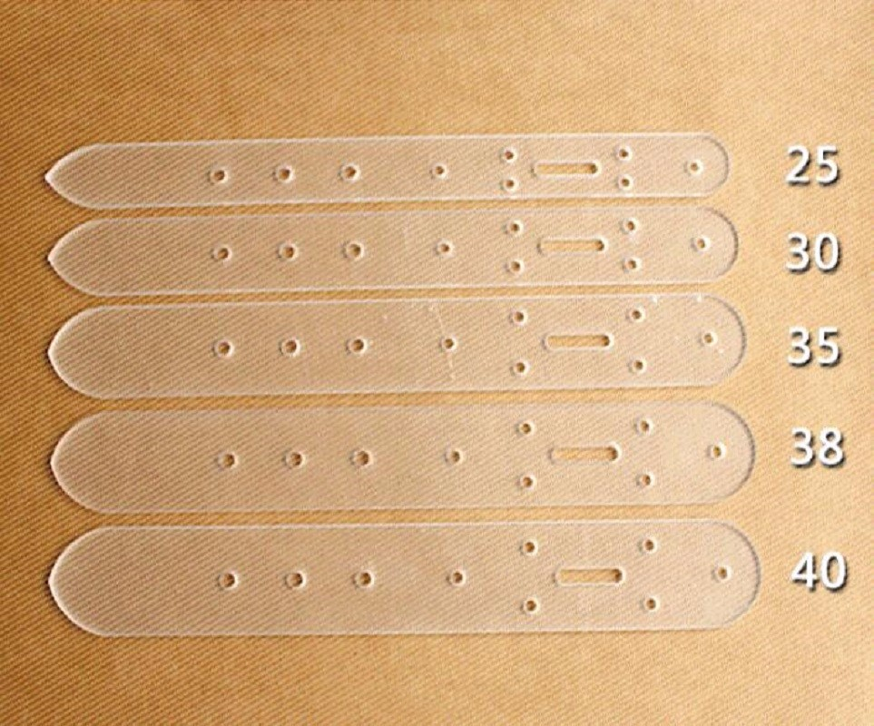 5x Leather Craft Clear Acrylic Belt Buckle Head End Templates Tool Set S3