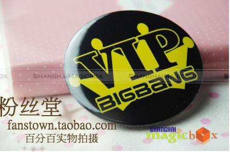 New Big Bang Bigbang VIP Crown Button Pin Badge #005
