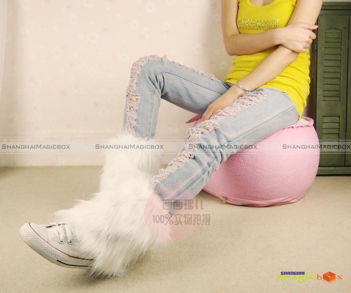 Warm Faux Fur Short Boot Socks Covers Muffs 20cm 11 Colors New 011
