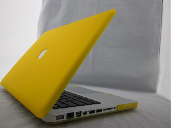 best service e97be ca159 Rubberized Hard Case Cover for Apple MacBook Pro-13-Yellow
