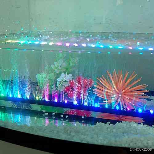 universal marineland 21 led fish tank aquarium air curtain bubble wand light bar ebay. Black Bedroom Furniture Sets. Home Design Ideas