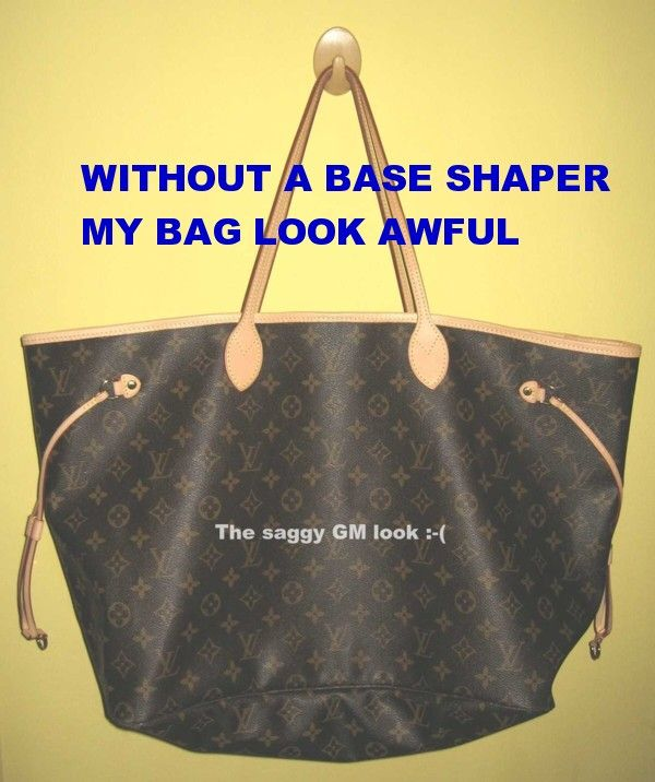 9edd488f1fea Clear Base Shaper Liner that fit the Louis Vuitton Neverfull GM Bag ...