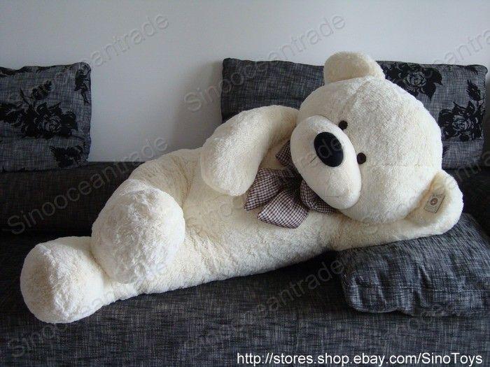 feet teddy bear beige cuddly large stuffed toy ebay