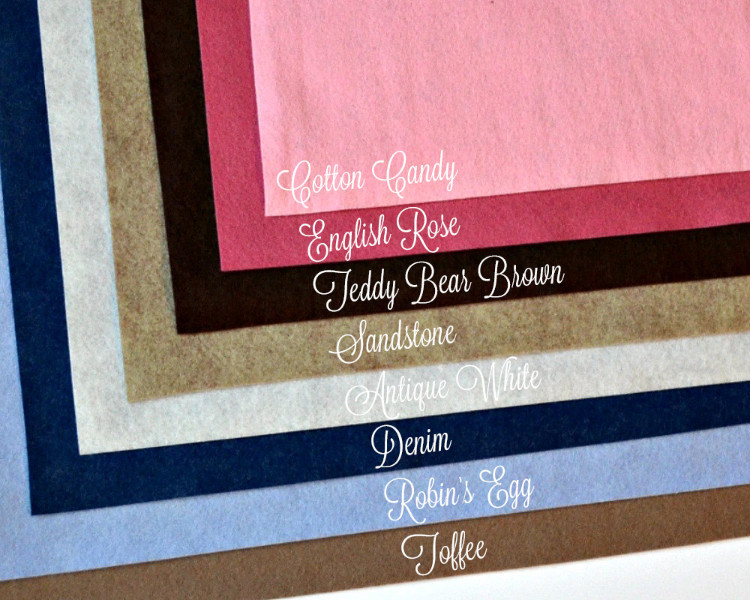 "WOW FAIRY TALE Felt Collection Merino Wool Blend Felt EIGHT 12/"" X 18/"" Sheets"