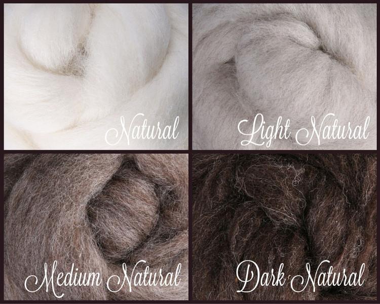 MOSSY EARTH Color Palette Wool Roving Fiber 2oz//56 grams Felting Spinning Soap