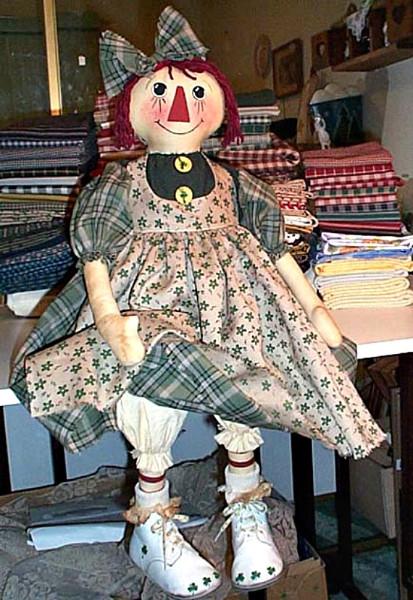 Primitive Raggedy Annie Ann Rag Ornie Doll Paper Pattern #535