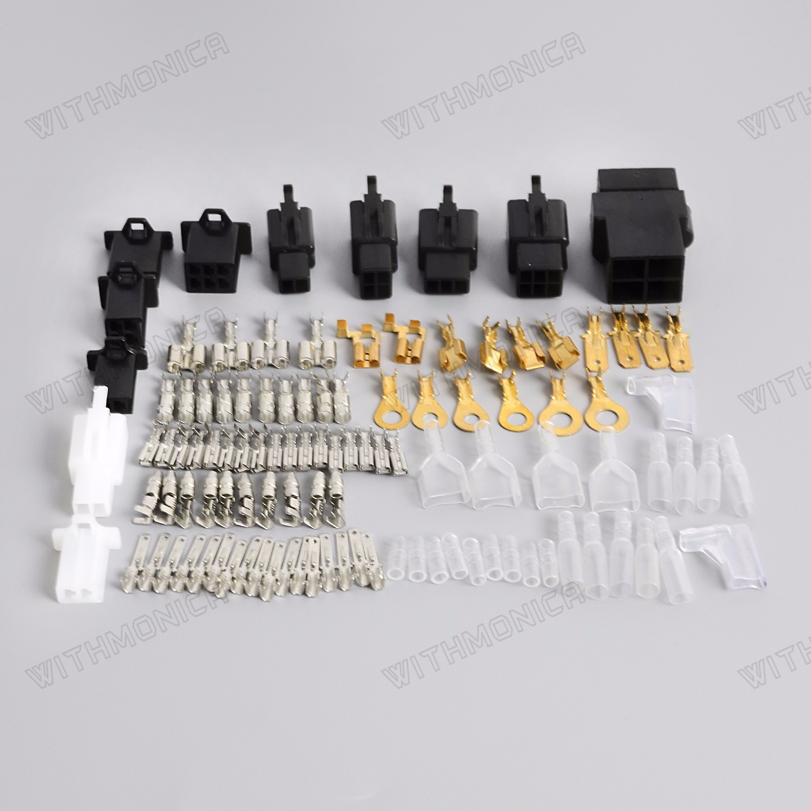Universal Motorcycle Electrical Wiring Harness Repair Connector Kit Auto Plugs Bullet