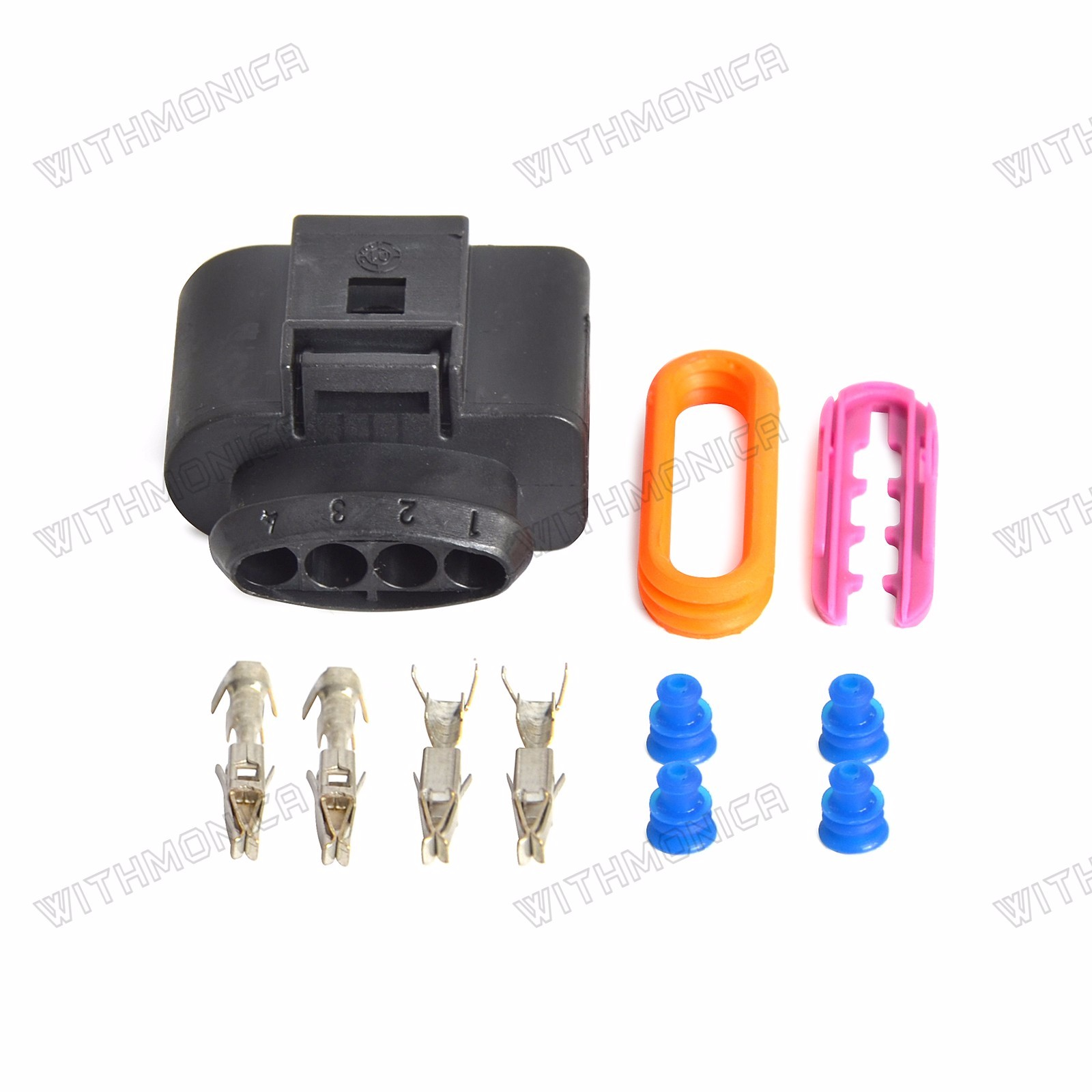 WI pr023_(2) audi vw ignition coil wiring harness connector repair kit a4 a6 a8  at fashall.co