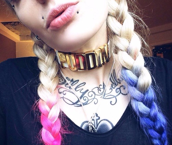 Harley Quinn Puddin Neck Collar Necklace Choker Suicide Squad Cosplay Harlequin