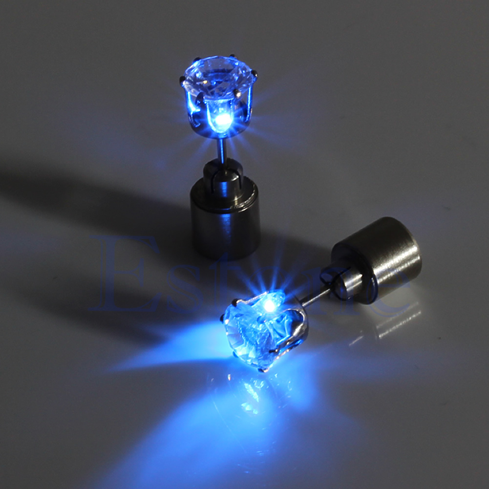 light up earrings light up led bling earrings ear studs 2060
