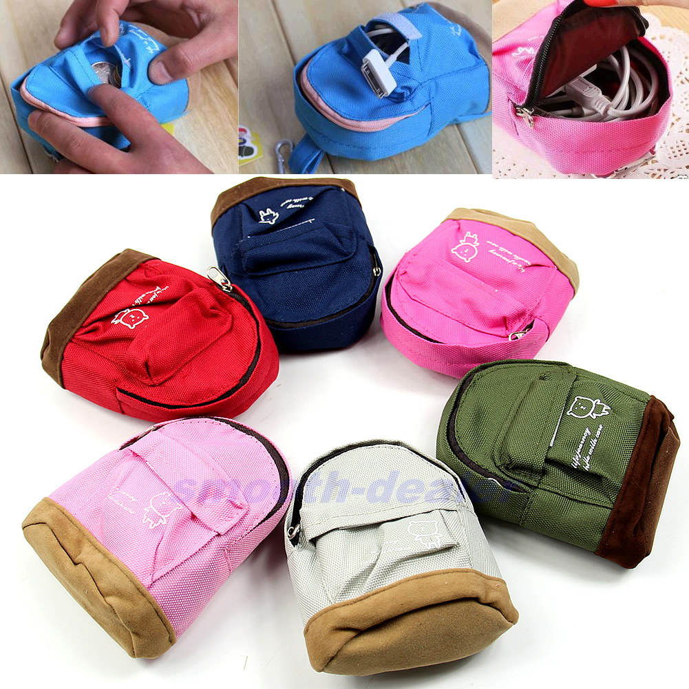 bab452b8a55 Details about Fashion Backpack Wallet Coin Bag Hand Pouch Purse for Women  Lady Men Portable