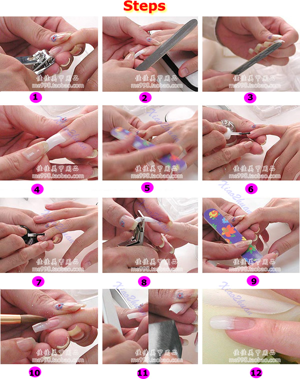 Lot 100pcs Acrylic Nail Art Mold Tips Decoration Dual Form Nail ...