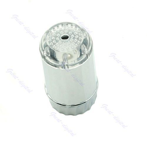 Temperature Sensor 3 Color Change RGB LED Light Water Tap Faucet Glow Shower A2
