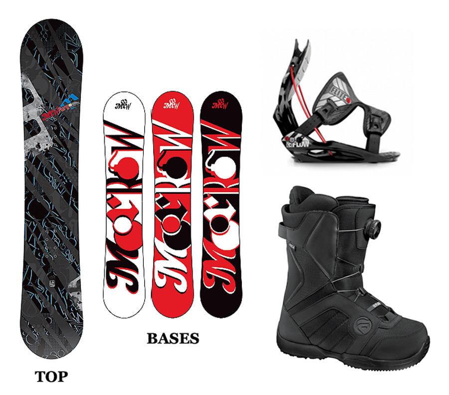 Morrow (K2) FURY 163 WIDE Snowboard+FLOW Binding+Flow BOA