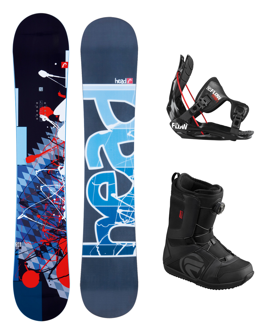 2013 Head Fusion Rocka Snowboard+Flite 1 Bindings+Flow BOA