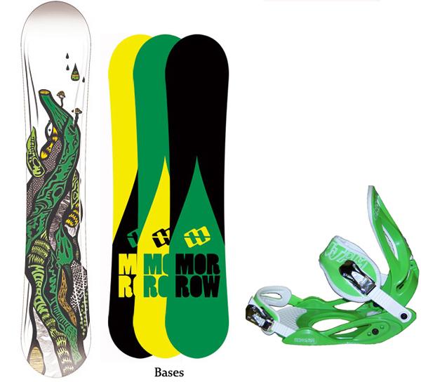 Morrow PEAK 163cm Snowboard+Glowstick Bindings NEW