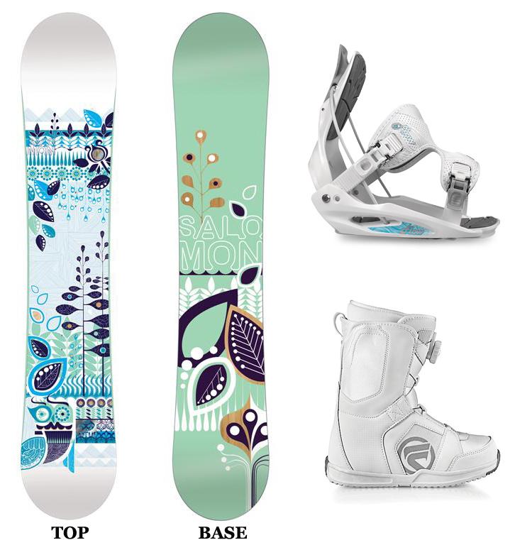 Salomon LOTUS 151cm Womens Snowboard+2013 FLOW Bindings