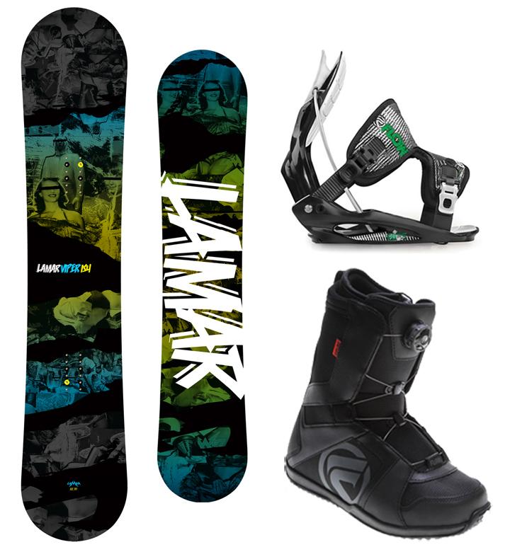 Lamar VIPER 151 Snowboard+FLOW Flite 2 Bindings+Flow BOA