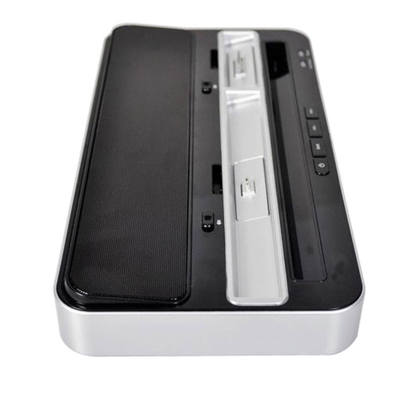 portable docking dock station speaker dual charger for. Black Bedroom Furniture Sets. Home Design Ideas