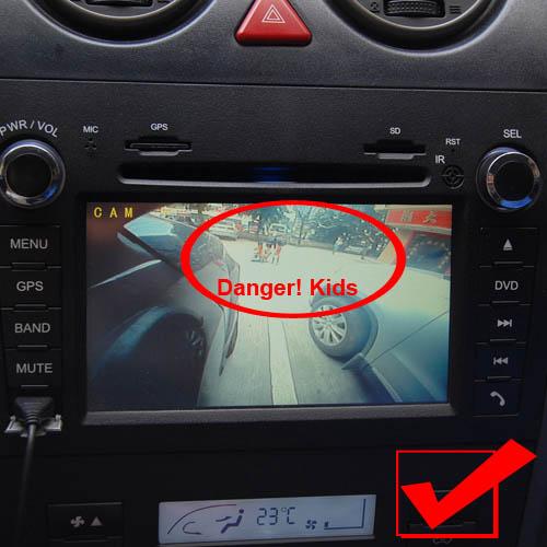 120 176 Diy Car Right Side Rear View Reversing Mirror