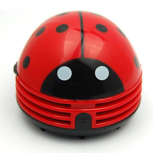 Mini Handheld Desktop Red Ladybug Vacuum Cleaner Sweeper 2