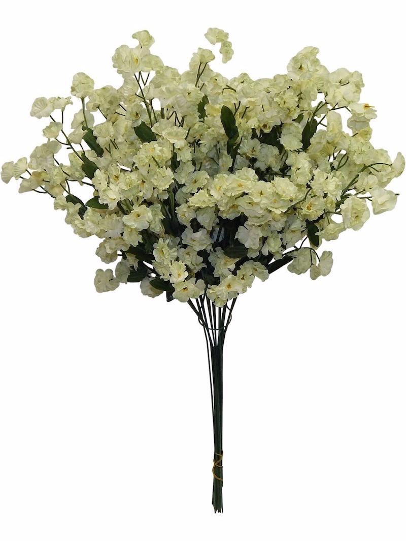 12 Baby's Breath LIGHT SAGE GREEN Gypsophila Silk Wedding Centerpieces  Flowers | eBay