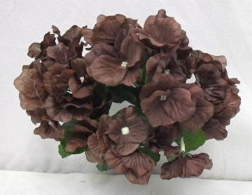 72 CHOCOLATE BROWN Hydrangea Silk Wedding Flowers
