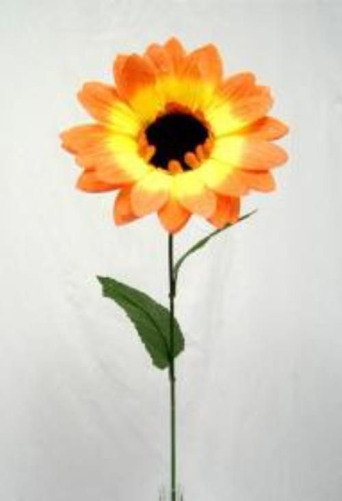 Orange Sunflower Long Stem Silk Flowers Autumn Fall Table Centerpiece Ebay