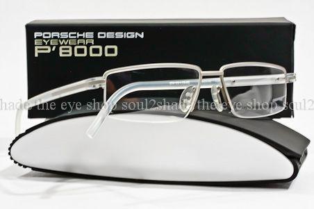 384363830685 Porsche Design P8126 Eyeglass Frame Matte Clear Silver on PopScreen