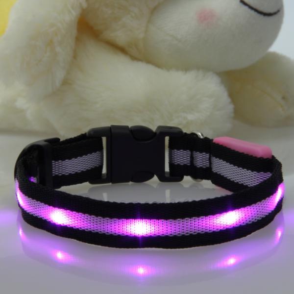 Pink Nylon Dog Collar