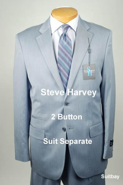 42R STEVE HARVEY Slate Blue 3 PIECE SUIT SEPARATE  42 Regular SS40a