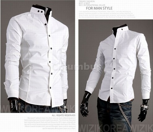 Stylish Casual Dress Slim Fit Shirts White,Black and 4 size SH43