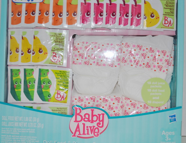 New Baby Alive Doll Food Juice Diaper Nappies Refill Set On