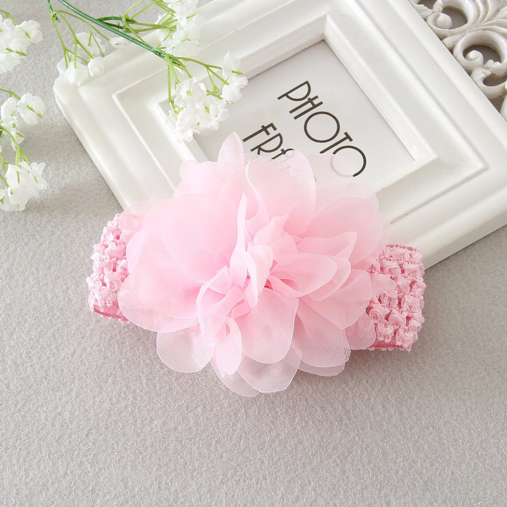 Baby headband infant girls Crochet Headband chiffon flower girl Hair Accessories
