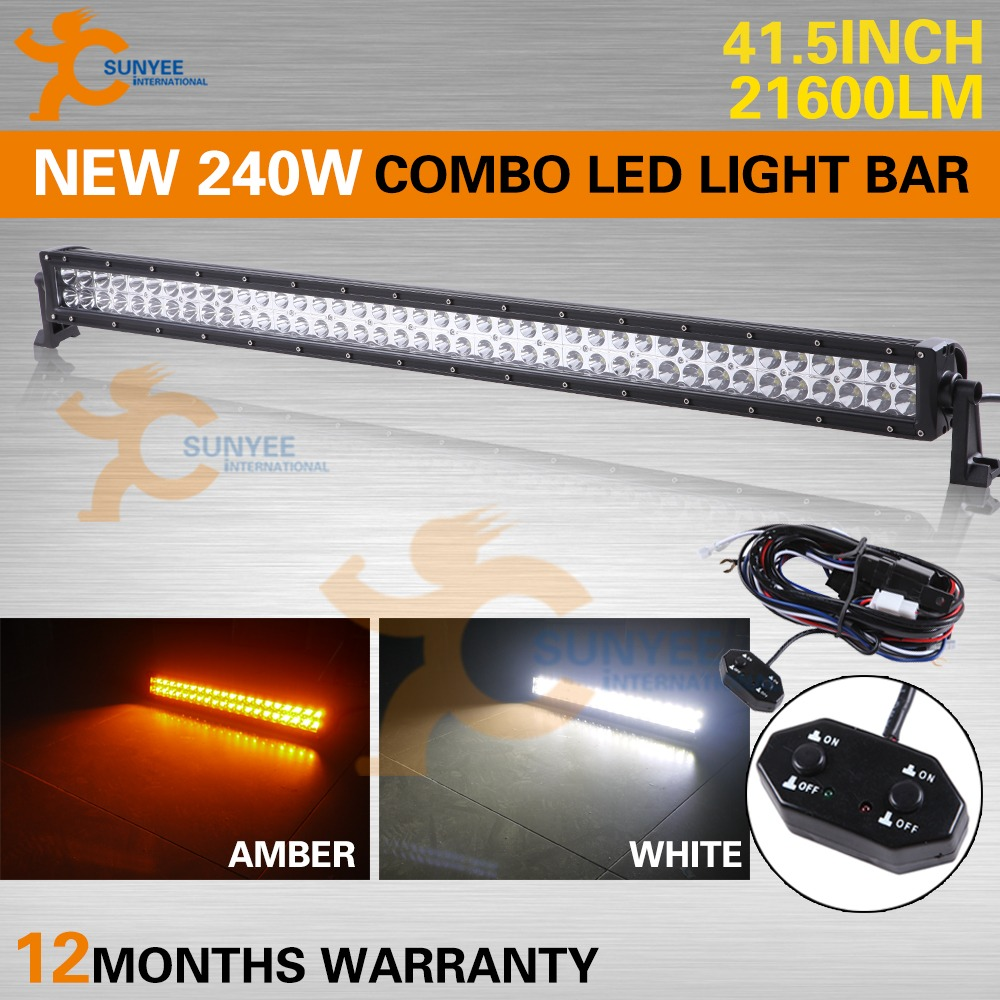 Amber White Switchable Off Road Light Bars Hidplanet
